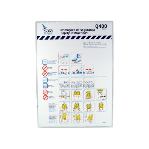Safety Card Dash Q400 OD-CAB-004/02 Apr11
