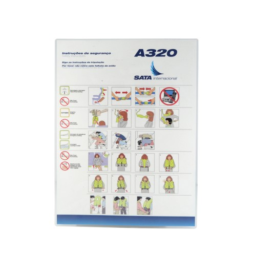 Safety Card A320 SATA Atlantic Spirit